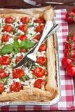 Scherpe de tomaten van de kers Royalty-vrije Stock Afbeeldingen