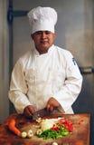 Scherpe Groenten 2 van de chef-kok royalty-vrije stock fotografie