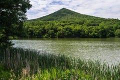 """Scherpe Hoogste Berg †""""Blauw Ridge Parkway, VA, de V.S. stock afbeelding"""