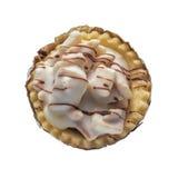 Scherpe koekjesmelk geïsoleerd op wit Royalty-vrije Stock Foto