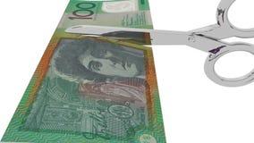 Scherpe kosten, het in de begroting opnemen stock footage