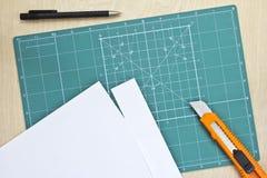 Scherpe mat Stock Foto's