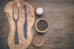 Scherpe raad met vork en mes Royalty-vrije Stock Foto