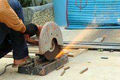 Scherpe staalstaaf Stock Foto's