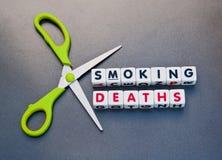 Scherpe sterfgevallen door het roken Royalty-vrije Stock Foto's
