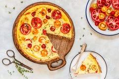 Scherpe tomaat en Thyme royalty-vrije stock foto