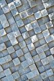 Scherpe witte marmeren opgestelde muur, stock afbeelding