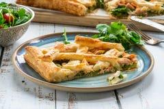 Scherpe zalm en broccoli Stock Fotografie
