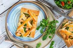Scherpe zalm en broccoli Royalty-vrije Stock Afbeelding
