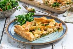Scherpe zalm en broccoli Royalty-vrije Stock Afbeeldingen