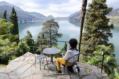 Scherrer Park at Morcote on Switzerland. Stock Photography