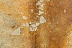 Scherven van gebroken glas Royalty-vrije Stock Afbeeldingen