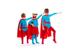 Scherza i supereroi fotografia stock libera da diritti
