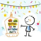Scherza il biglietto di auguri per il compleanno illustrazione di stock