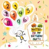 Scherza il biglietto di auguri per il compleanno royalty illustrazione gratis