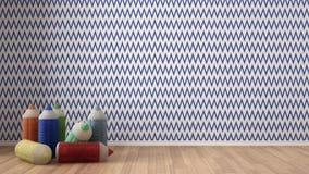 Scherza il fondo variopinto minimalista con le matite colorate farcite Fotografia Stock Libera da Diritti