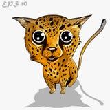 Scherza il leopardo Fotografia Stock Libera da Diritti
