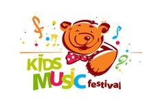 Scherza il logo di festival di musica Immagini Stock Libere da Diritti