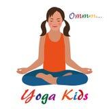 Scherza il logo di yoga Fotografia Stock