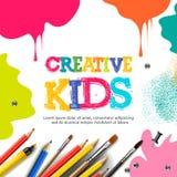 Scherza il mestiere di arte, l'istruzione, concetto della classe di creatività Illustrazione di vettore illustrazione di stock