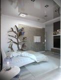 Scherza l'interior design della camera da letto, la rappresentazione 3D Fotografia Stock Libera da Diritti