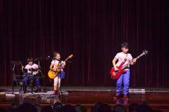 Scherza la banda rock Fotografia Stock