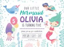 Scherza la carta dell'invito della festa di compleanno royalty illustrazione gratis