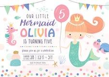 Scherza la carta dell'invito della festa di compleanno illustrazione di stock
