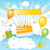 Scherza la festa di compleanno Immagini Stock