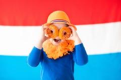 Scherza lo sport di squadra olandese sostenente Fotografia Stock