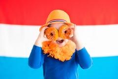 Scherza lo sport di squadra olandese sostenente Fotografia Stock Libera da Diritti