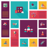 Scherzen Sie APP-ui Hintergrund der Spielwaren flachen, eps10 Stockbilder