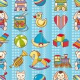 Scherzen Sie nahtloses Muster des Spielzeugs Gestaltungselement für Postkarte, Fahne, Flieger Lizenzfreie Stockfotografie