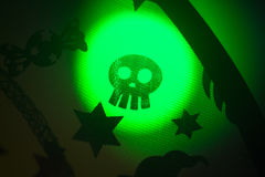 Scherzetto o dolcetto del partito del cranio di Halloween Immagini Stock