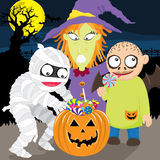 Scherzetto o dolcetto felice di Halloween royalty illustrazione gratis