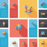 Scherzi il fondo piano di ui di app dei giocattoli, eps10 Fotografie Stock Libere da Diritti