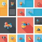 Scherzi il fondo piano di ui di app dei giocattoli, eps10 Fotografia Stock
