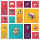 Scherzi il fondo piano di ui di app dei giocattoli, eps10 Immagini Stock Libere da Diritti