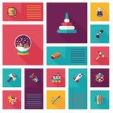 Scherzi il fondo piano di ui di app dei giocattoli, eps10 Immagine Stock Libera da Diritti