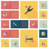 Scherzi il fondo piano di ui di app dei giocattoli, eps10 Immagine Stock
