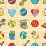 Scherzi il reticolo senza giunte del giocattolo Progetti l'elemento per la cartolina, l'insegna, aletta di filatoio Immagini Stock