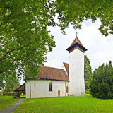 Scherzligen Church from Thun Switzerland Stock Photos