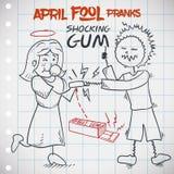 Scherzo classico di gomma scioccante per giorno di April Fools ', illustrazione di vettore Fotografia Stock