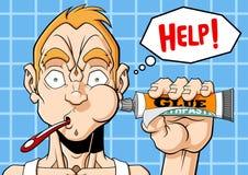 Scherzo del dentifricio in pasta Fotografia Stock Libera da Diritti