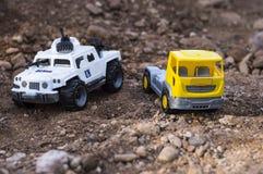 Scherzt Autos auf Standort Lizenzfreies Stockfoto
