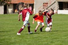 Scherzt Fußball stockfoto