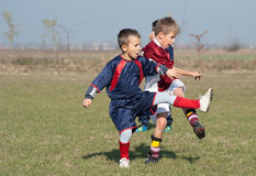 Scherzt Fußball Lizenzfreie Stockfotos