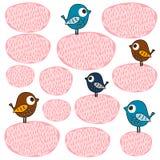 Hintergrundmuster mit Vögeln Stockbild