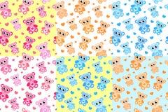 Scherzt nahtloses Muster mit Teddybären Trägt endlosen Hintergrund, Beschaffenheit Stockfoto