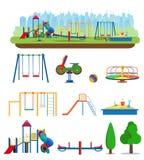 Scherzt Spielplatz Gebäude für Stadtbau stock abbildung